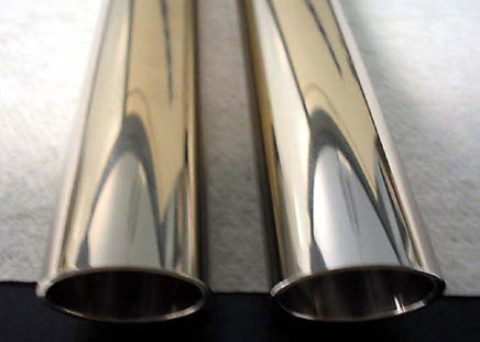 "Fig. 8 both pipes plated with 0.0005"" nickel"